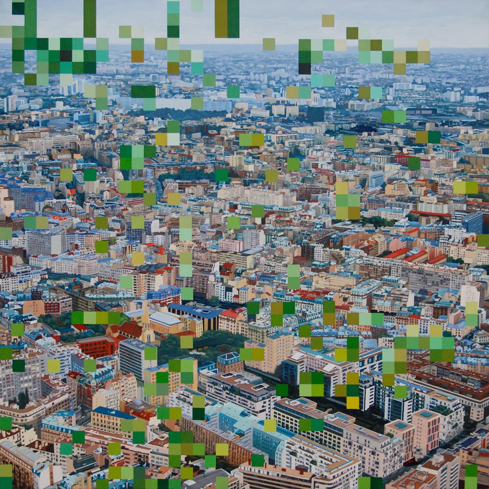 WestEuropean Landscape, oil on canvas, 200x200 cm, 2006-2007
